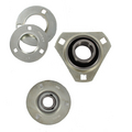 Pressed steel housed bearing