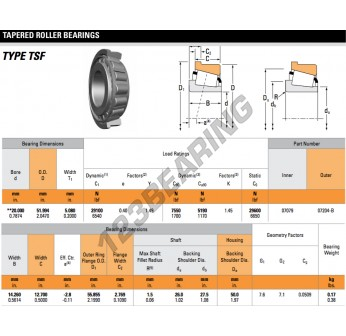 07079-07204-B-TIMKEN - 20x51.99x5.08 mm