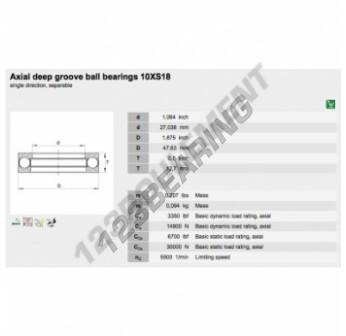 10XS18-INA - 27.04x47.63x12.7 mm