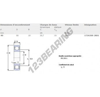 1726208-2RS1-SKF - 40x80x18 mm