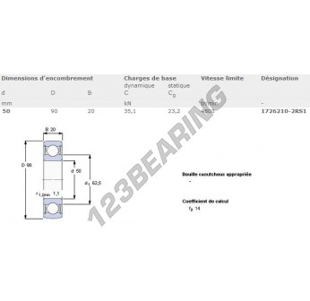 1726210-2RS1-SKF - 50x90x20 mm