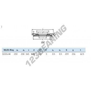 32224-AK-NILOS - 120x218x5 mm