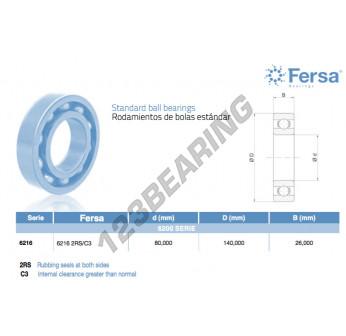6216-2RS-C3-ASFERSA