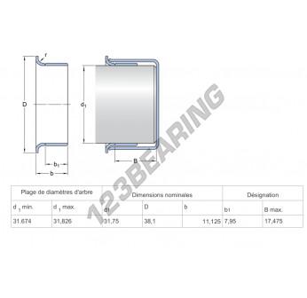 99817-SKF - 31.67x31.75 mm