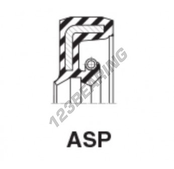 ASP-19.05X30.16X6.35-NBR - 19.05x30.16x6.35 mm