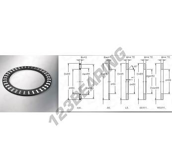 AXK6085 - 60x85x3 mm
