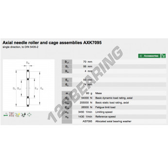 AXK7095-INA - 70x95x4 mm
