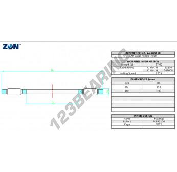 AXK85110-ZEN - 85x110x2 mm