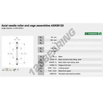 AXK90120-INA - 90x120x4 mm