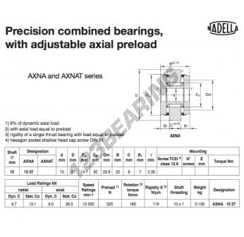 AXNA1037-NADELLA - 10x30x22 mm