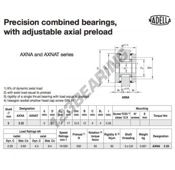 AXNA522-NADELLA - 5x17x12 mm