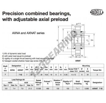 AXNAT742-NADELLA - 7x26x18 mm