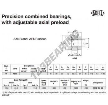 AXNB4580-NADELLA - 45x70x54 mm