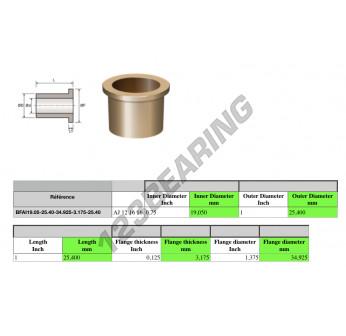BFAI19.05-25.40-34.925-3.175-25.40 - 19.05x25.4x25.4 mm