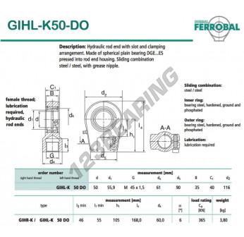 GIHL-K50-DO-DURBAL - 50x116x40 mm