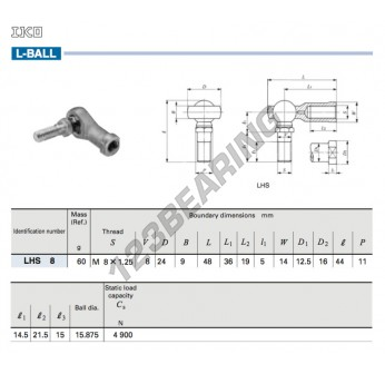 LHS8-IKO - 8 mm