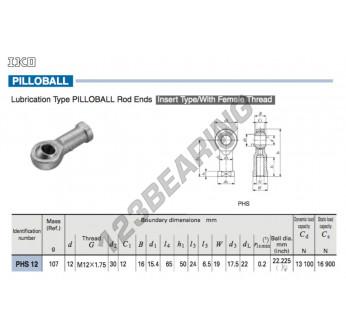PHS12-IKO - 12x30x12 mm