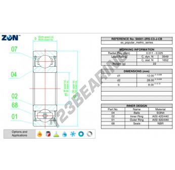 HYB-W6001-2RS-C3-J-CB-ZEN