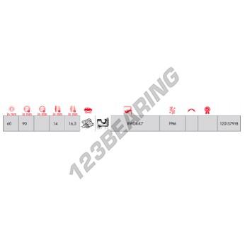 12015791B-CORTECO - 60x90x16.3 mm