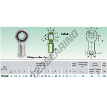 TSFL016-C - M16x16 mm