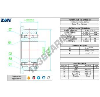 WF689-ZZ-ZEN - 9x17x4 mm