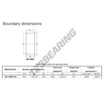 WJ-485416-KOYO - 76.2x85.73x25.4 mm