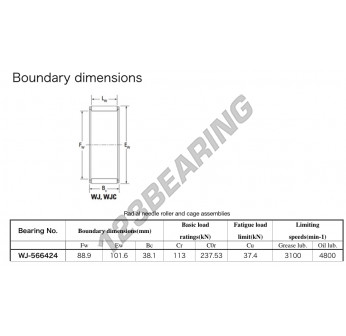 WJ-566424-KOYO - 88.9x101.6x38.1 mm