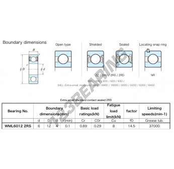 WML6012-2RS-KOYO - 6x12x4 mm