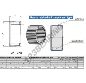 YB2.5.2.5-IKO - 3.97x7.14x3.96 mm