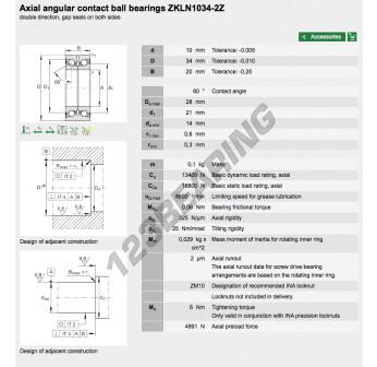 ZKLN1034-2Z-INA - 10x34x20 mm