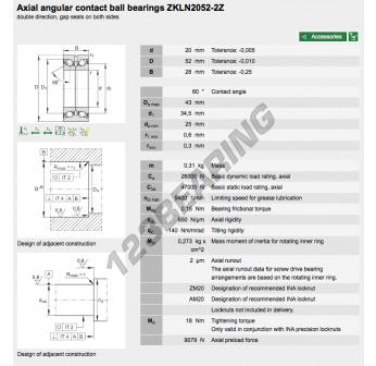 ZKLN2052-2Z-INA - 20x52x28 mm