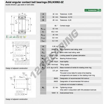 ZKLN3062-2Z-INA - 30x62x28 mm